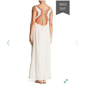 Maxi Embroidered Boho Dress, Romeo +Juliet Couture